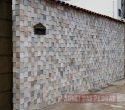 Pedra Serrada 3 D tamanho 0.10 x 0.10. Cor: Mesclada.