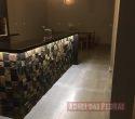 Cozinha em granito Preto São Gabriel e Pedra Ferro 0.10 x 0.10 efeito 3 D.