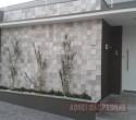Pedra Serrada 3 D tamanho 0.10 x 0.10. Cor: Branco com cinza.